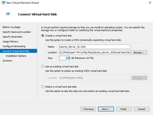 Creating first HyperV VM 06