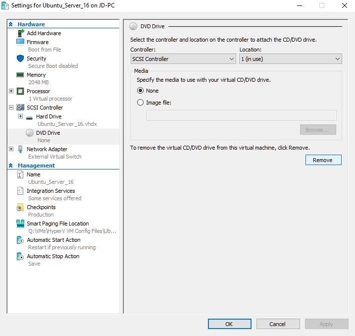 Installing Ubuntu 16 04 On A Hyper-V VM (The Long Way) – JD