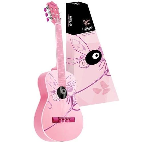 barngitarr rosa