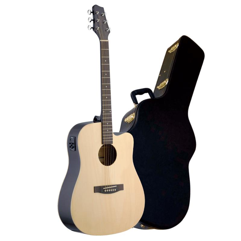 STAGG SA30DCE El-akustisk Westerngitarr med hardcase
