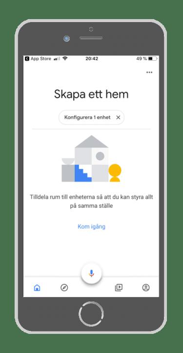 Anvisningsbild Google Home