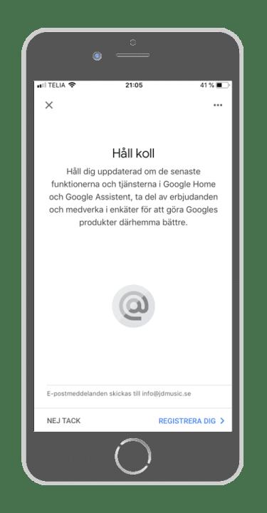 Google Home - Håll koll
