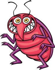 free graphic of bed bug