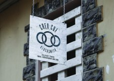 Hanging Wall Sign creu cof