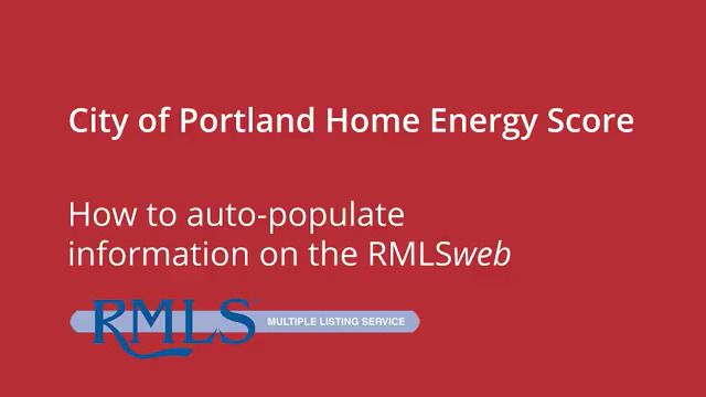 HES – Home Energy Score Button RMLS