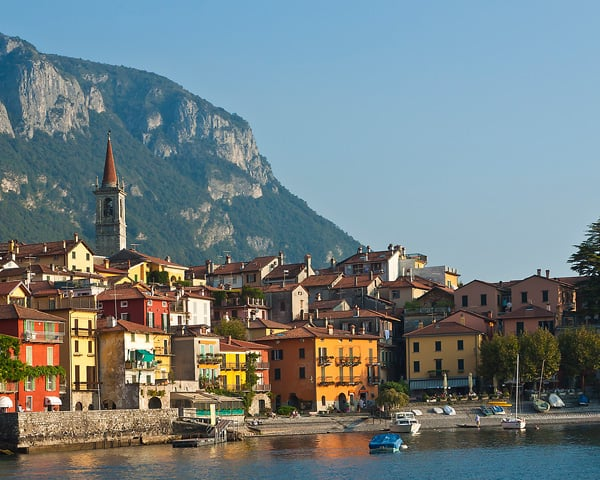 Landscape, Varenna on Lake Como, Northern Italy