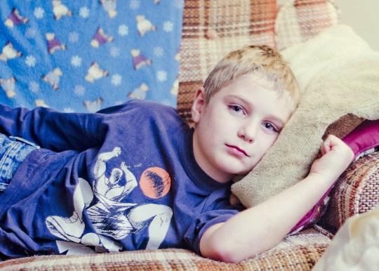 Boy unwell