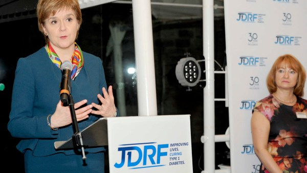 JDRF 30th Anniversary Event at Dynamic Earth, Edinburgh, 07/12/2016: First Minister speaks at the event. Photography for Indigo PR from:  Colin Hattersley Photography - colinhattersley@btinternet.com - www.colinhattersley.com - 07974 957 388