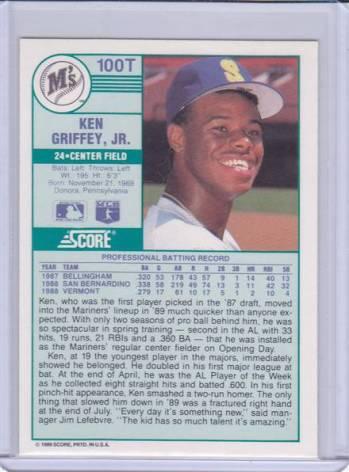 1989 Score Traded #100T