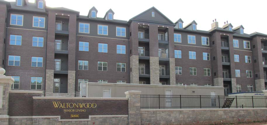 Waltonwood Lake Boone retirement living community Commercial project