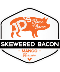 Mango Habanero Skewered Bacon
