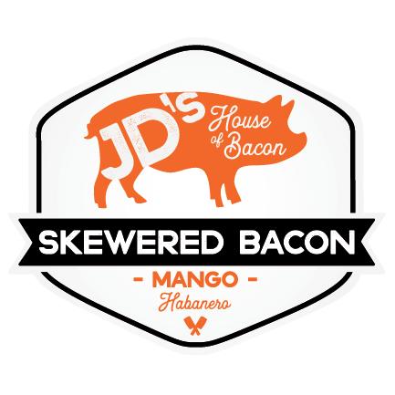 Mango Habanero Flavored Skewered Bacon