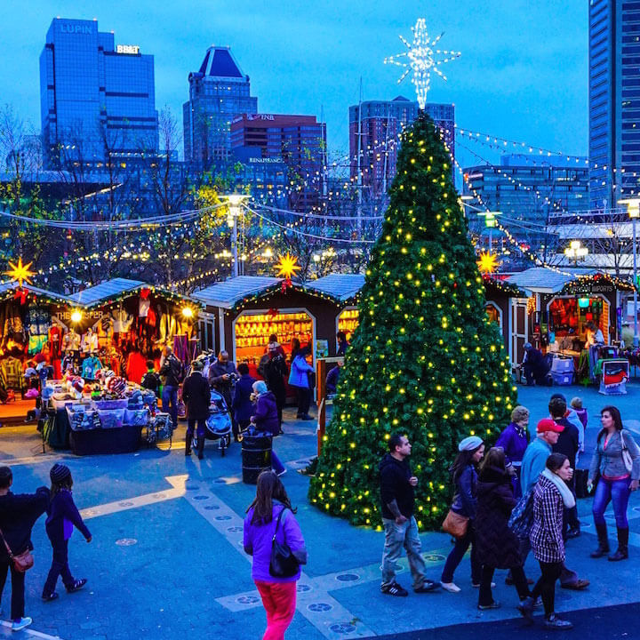 Christmas Village, Inner Harbor, Baltimore, MD
