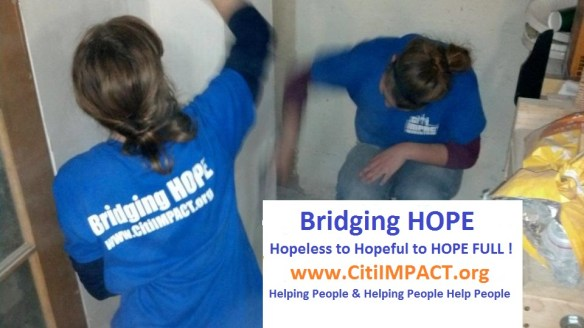 HOPE given on Staten Island by college women helping from Hurricane Sandy!