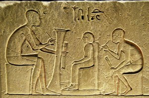 scribes - hieroglyphs
