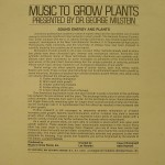 Music to grow plants back cover
