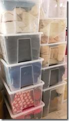 rangement boîtes transparentes empilable pour tissus