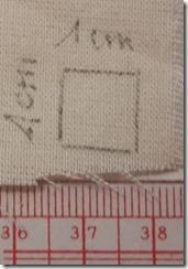 préparation du test Afnor 1cm 2 de 120 fils
