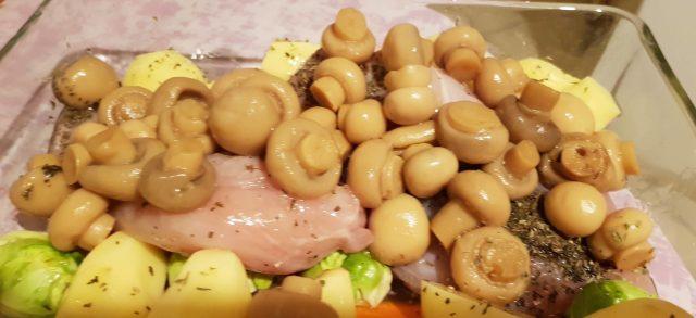 poulet et légumes