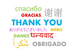 Miracle Morning - les gratitudes - Merci traduit en plusieurs langues