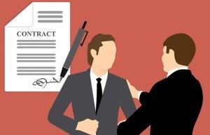 Comment avoir empathie -Contrat tacite pour mieux s'entendre (gagnant/gagnant) - Deux personnes se serrant la main suite à la signature d'un contrat