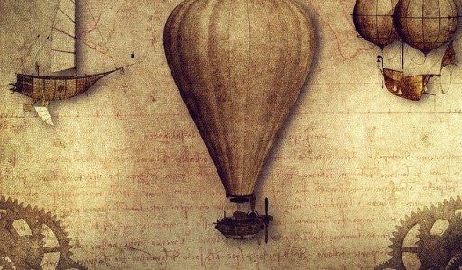 Sophie Blanchard, célèbre aéronaute - image vintage d'aéronefs et de ballons