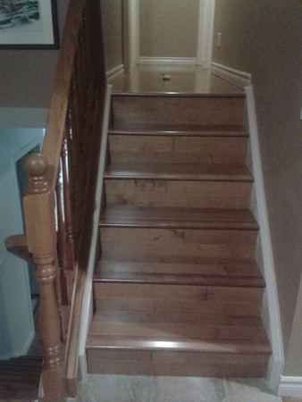 Hallway and stairs in hardwood