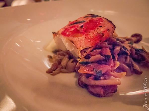 Crab and mushrooms