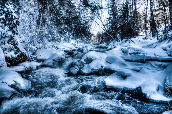 Frozen rapids