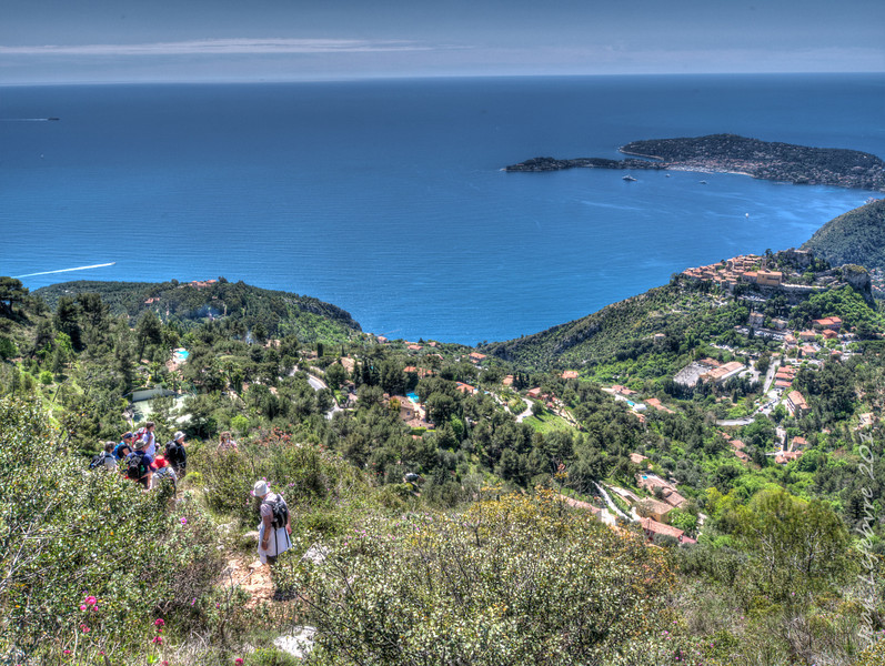 Our route to Eze, France