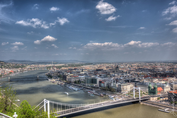 Bridge to Pest, from Buda