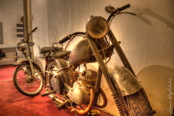 Motorcycle in the Museum of Communism
