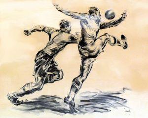 Footballeur. Le duel