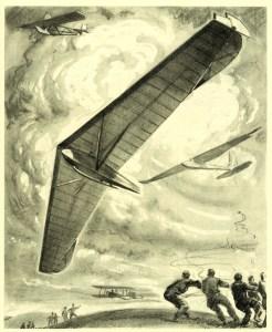 Segelflieger auf der Rhön