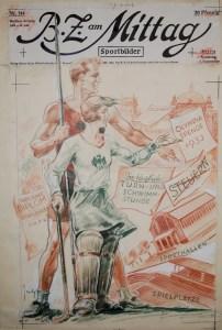 B.Z. am Mittag Sportbilder Titelblatt - Front