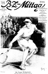 Die Tennis Weltmeisterin Helen Wills