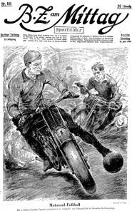 Motorrad-Fußball