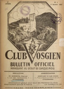 Bulletin Officiel Club Vosgien