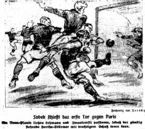 Sobek schießt das erste Tor gegen Paris