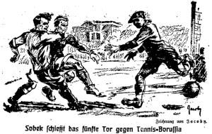 Sobek schießt das fünfte Tor gegen Tennis-Boruffia