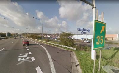 E40 Sortie 35 Herstal (c) Google Street View