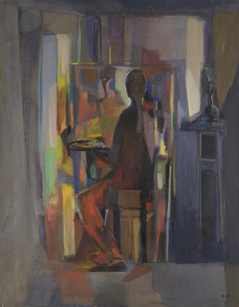 Jean Marzelle, Le peintre à l'atelier, 1948, Oil on canvas, 146 x 114 cm