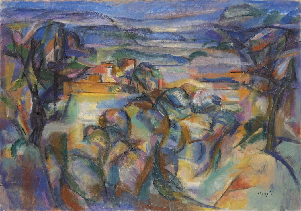 Jean Marzelle, La Sapèque, 1955, Oil on canvas, 65 x 92 cm