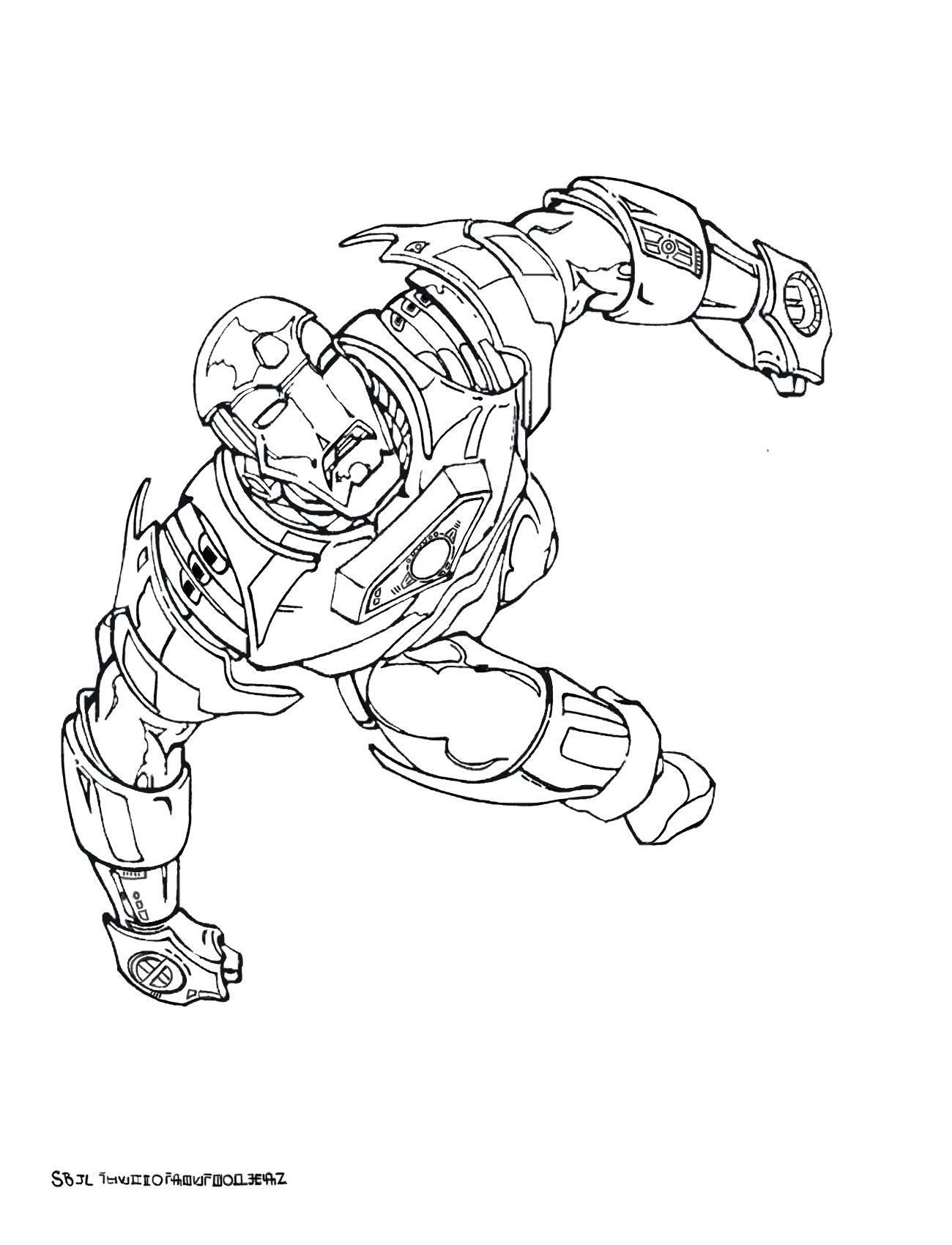 Dessins Coloriages De Ironman Iron Mans