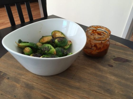 Brussels Sprouts with Spicy Ranch Sauce