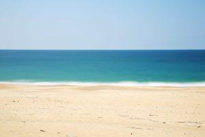Ocean meeting the beach.