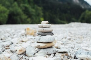 small tower of rocks in decreasing size from bottom to top.