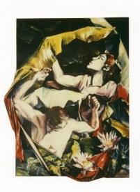 E pericoloso sporgersi 1, 260 x 120 x 10 cm, huile/toile découpée