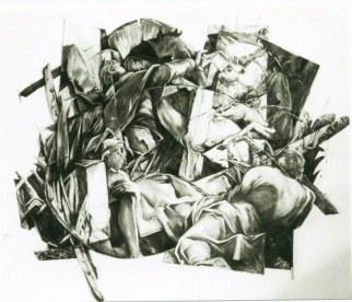 E pericoloso sporgersi 2, 220 x 160 cm, huile/toile découpée (disparu)