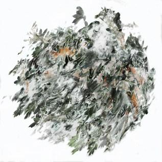 2017-La flèche de plomb 04, 150 x 150 cm